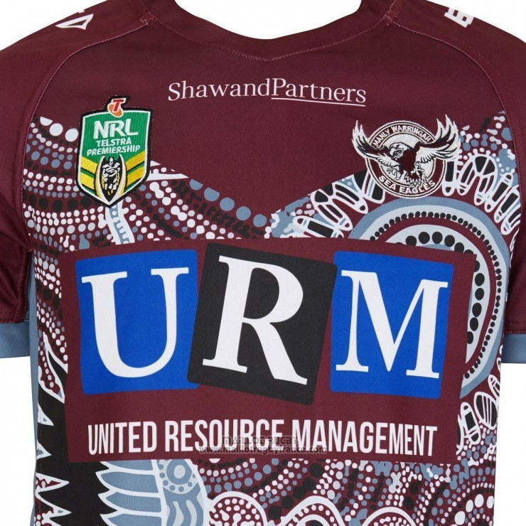 Maillot Manly Warringah Sea Eagles Rugby 2018 Indigene